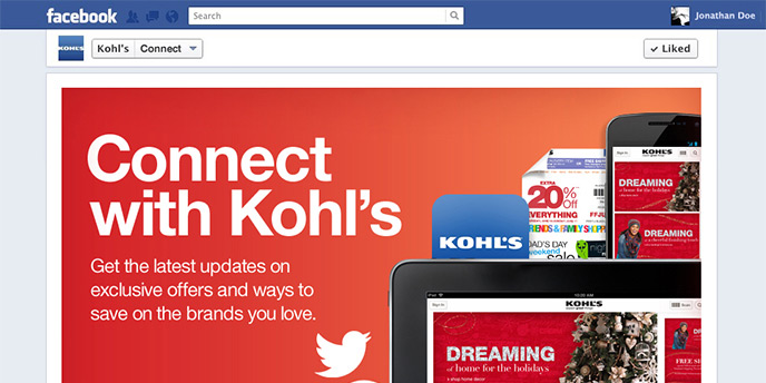 Facebook App Connect with Kohl's